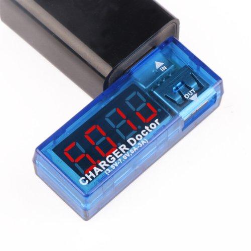 DROK Porta USB Voltmetro Amperometro Power Meter Tensione Monitor di Corrente Tester DC 3-10V 0-3.3A