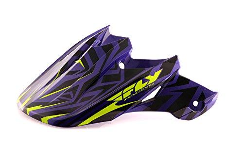Fly Racing - Scudo per Casco F2 Shorty, Colore: Blu/Lime/Viola