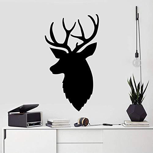 Calcomanía de pared de ciervo, pegatina de vinilo para guardería de bosque, diseño de interiores de oficina, decoración, dormitorio, habitación para adolescentes, calcomanía artística moderna