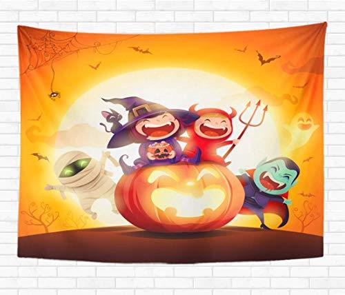 Tapiz para Colgar en la Pared, Disfraz de Halloween para nios, Fiesta, Grupo de Estar Sentado, tapices Decorativos para el hogar, Manta de Pared para Dormitorio, Sala de Estar, Dormitorio