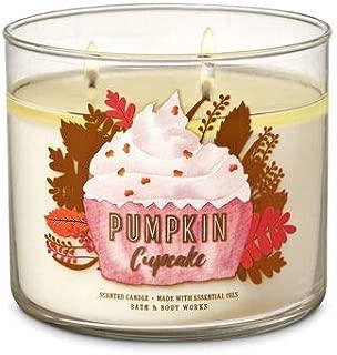 White Barn Bath & Body Works 3 Wick Candle Pumpkin Cupcake