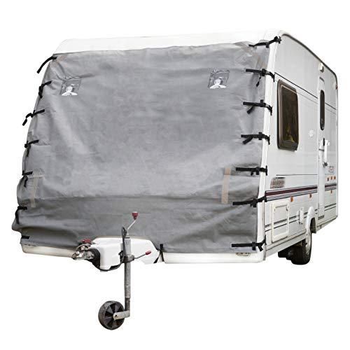 BRAMBLE Cubierta de Caravana - con Luces LED & Las Correas Reflectante | Protección Universal Frontal de Remolque
