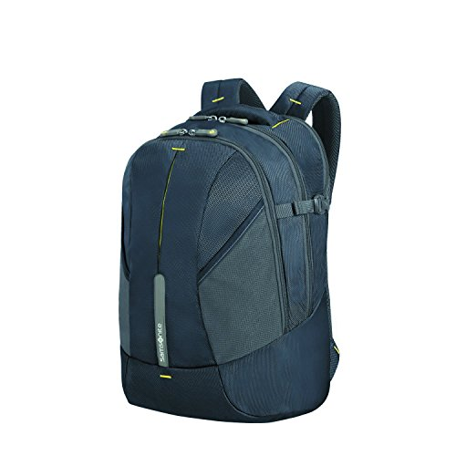 SAMSONITE 4mation - Laptop Backpack Mochila Tipo Casual, 43 cm, 27 Liters, Azul (Midnight Blue/Yellow)