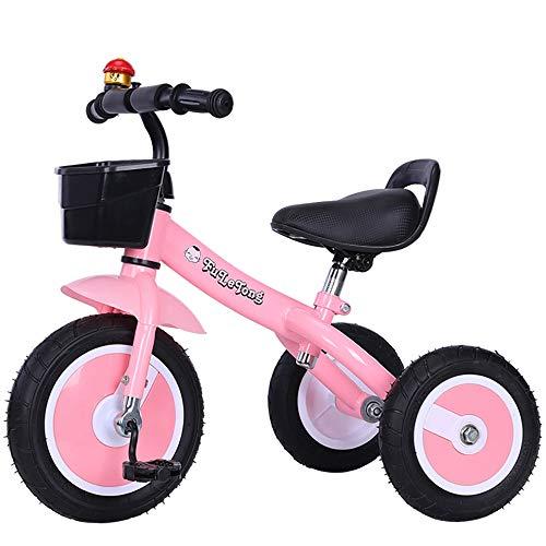 Triciclos Bebes,Coche Triciclo Niño Bicicleta Bebe Evolutivo Niños de 2-5 Años,Trike Bicicleta Asiento de PU y Ruedas de Gomas y Conducción Silenciosa Máx 30 kg, Pink