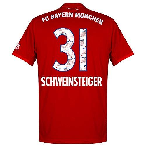 adidas Bayern München Home Schweinsteiger 31 Trikot 2019-2020 (Danke Basti Beflockung) - XS