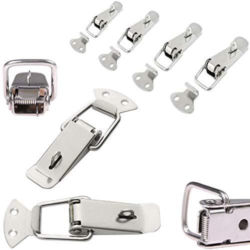 4x Spannverschluss Edelstahl, ideal als Kistenverschluss Klappverschluss - Verschiedene Größen & Varianten (75 mm, Abschließbar)