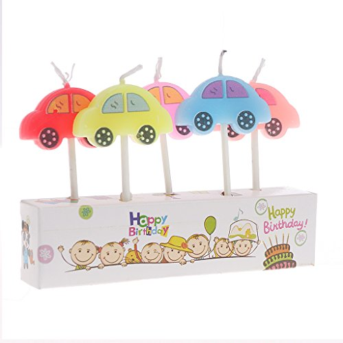 S-TROUBLE Party Supply 5Pcs Velas de Dibujos Animados Happy Birthday Cake Topper Decoración Linda