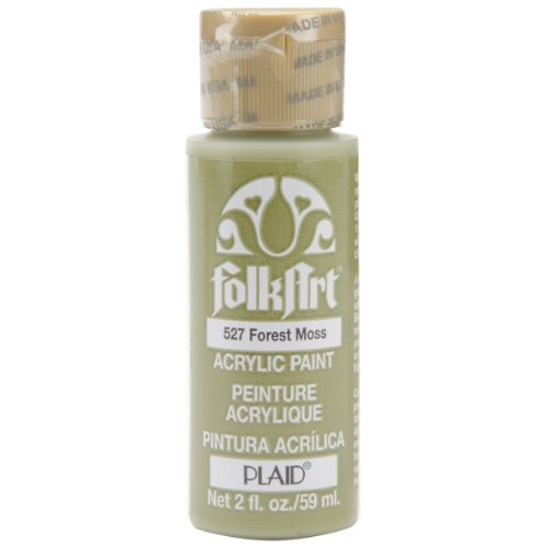 FolkArt Acrylic Paint in Assorted Colors (2 oz), 527, Forest Moss