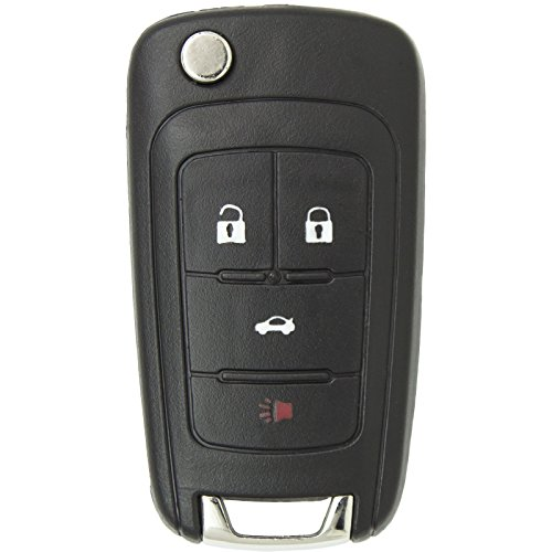 Keyless2Go New Keyless Remote 4 Button Flip Car Key Fob for Equinox Verano Sonic and Other Vehicles That Use FCC OHT01060512