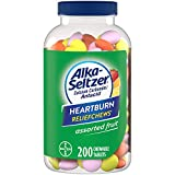 Alka Seltzer Extra Strength Heartburn Relief Chews, Assorted Fruit Antacid Tablets for Acid Indigestion, Upset Stomach and Sour Stomach Relief - 200 Count
