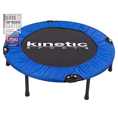 Kinetic Sports Fitness Trampolin, TOP Marke Testbild Auszeichnung!, Indoor Minitrampolin, Sprungtraining, Smart Jumping Workout, platzsparend faltbar, Ø 91cm, bis 100kg