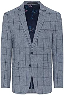 Tarocash Men's Monterey Check Blazer Sizes Small - 5XL for Going Out Smart Occasionwear