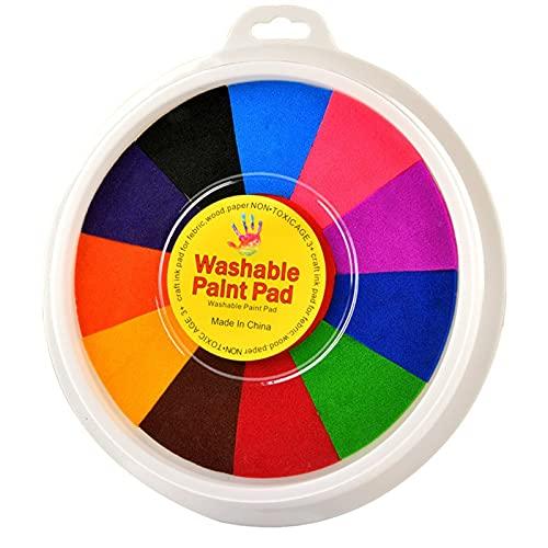 DAGONGJI Divertido Kit para Pintar con Los Dedos, Juguete de Aprendizaje Temprano para Manualidades, Pintura Pintura Lavable, para Regalos de Cumpleaños, Material Didáctico Escolar (Color : 12colors)
