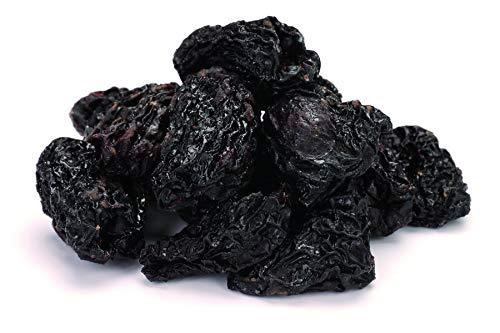 Bio ganze Trockenpflaumen mit Kern roh 1 kg echte Rohkost Dörrpflaumen mit Stein, nicht bedampft daher trocken, sonnengetrocknet, ohne Zuckerzusatz, ungeölt 1000g