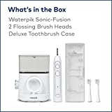 Waterpik Sonic-Fusion Professional Flossing Toothbrush, Electric Toothbrush and Water Flosser in One...