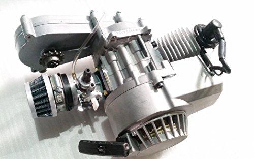 Motore monocilindrico - completo, 49cc, a 2tempi - con scatola di trasferimento - per mini-moto e mini-moto da cross