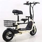 Bicicletas Eléctricas, Bicicleta eléctrica Scooter eléctrico 48V 250W 8Ah Ciudad Ciudad Eléctrico Capacidad de Carga Urbana Capacidad de Carga 120kg,Bicicleta (Color : White)