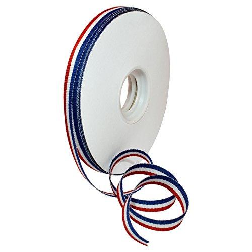 Morex Ribbon 93602/25-914 Polyester Stripes Ribbon, 3/8