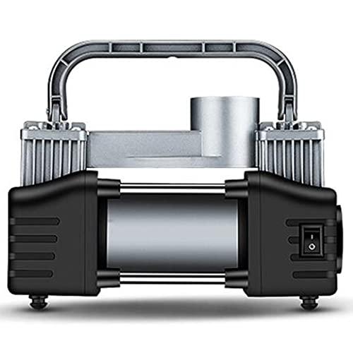 YCDJCS Bomba De Compresor De Aire De 12 V De Doble Cilindro para Inflador De Neumáticos Portátil De Servicio Pesado De Coche 150PSI con Luces De Trabajo LED para compresores de Aire (Color : Silver)