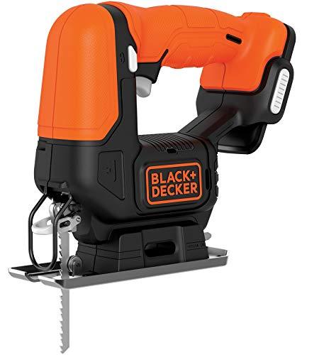 Black+Decker BDCJS12N Akku-Stichsäge (12 V, mit Sägeblasfunktion, hohe Laufruhe & vielseitig einsetzbar mit werkzeuglosem Sägeblattwechsel, inkl. 1 Holzsägeblatt, ohne Akku und USB-Ladekabel)