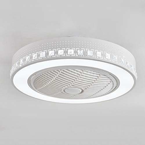 Plafón LED ventilador de cámara moderno, ventilador creativo, luz redonda, ventilador de techo con mando a distancia regulable, 72 W, habitación de los niños, silencioso,