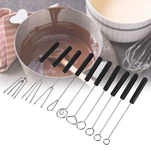 Raguso Edelstahl Schokoladengabel Hochwertige Schokoladen Tauchgabel für Pralinen und Trüffel DIY Backen für handgemachte Pralinen