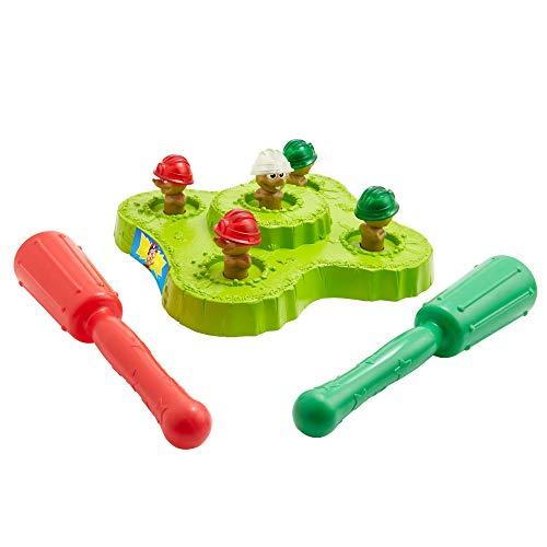 Mattel Games GYN47 - Hau den Maulwurf! Kinderspiel mit Hämmern, Lichtern und Geräuschen, für 1 oder 2Spieler ab 4Jahren