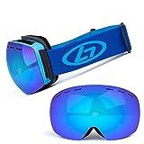 YIHE Gafas de esquí- Gafas de Snowboard OTG, Doble Lente con protección antiniebla y UV400 para Hombre, Mujer y Juventud,Esponja de 3 Capas,Compatible con Casco, Seguridad para Esquiar