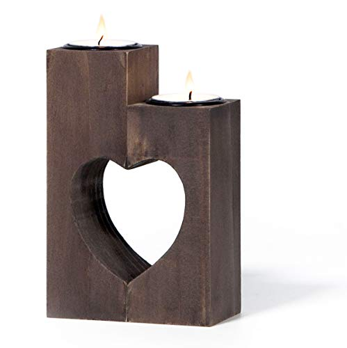 """TBFM Heart Candle Tealight Holder – Set of 2 Handmade Decorative Candle Holders 