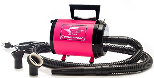 Metro Air Force Commander 4.0HP Two Speed Pet Dryer - Pink 220 Volt (Made for use in Europe only)