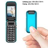 JJA BROS Il mondo più piccolo Flip BM60 Mini Musica Quadrante Bluetooth Telefono cellulare Cambia voce 3.5 Lettore auricolare Mp3 Music Player (Rosso)