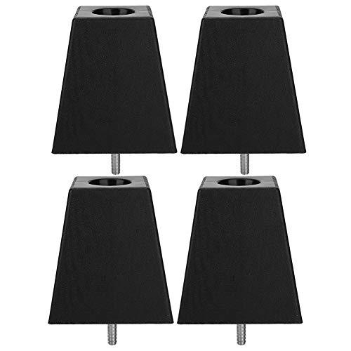 4Pcs Sofa Legs Cabinet Leg Black Wood Grain PP Plastic M10 Schroefkast Meubelaccessoires Beenmeubilair Bank, kast en ander meubilair