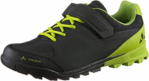 VAUDE Unisex AM Downieville Low Mountainbike Schuhe, Black/Chute, 44 EU