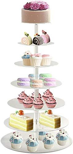 Soporte para tartas de 7 pisos, soporte para tartas de varias capas