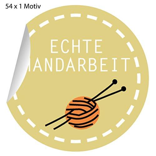 54 chique stickers met wollen bolletjes voor zelfgemaakte, matte papieren stickers voor geschenken, etiketten voor tafeldecoratie, pakketten, brieven en meer (ø 30 mm; 1 motief): echt handwerk 5x54