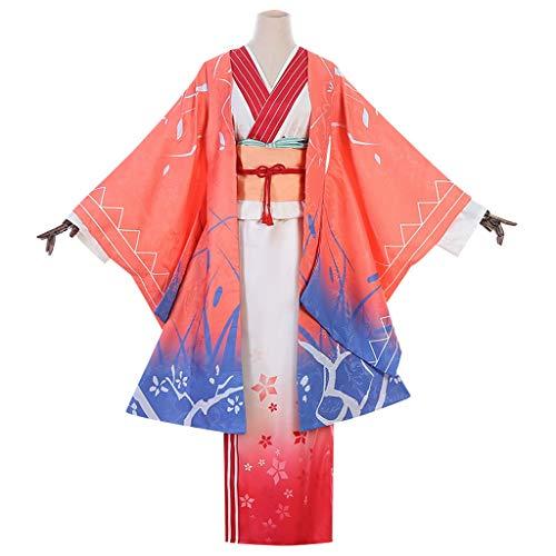 Traje De Cosplay Sword Art Online Yuuki Asuna Año Nuevo Cheongsam Vestido Kimono ( Size : S )