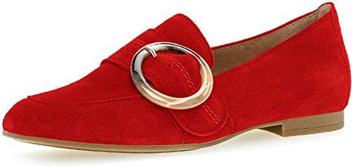 Gabor Casual Slipper in Übergrößen Rot 44.212.15 große Damenschuhe, Größe:42