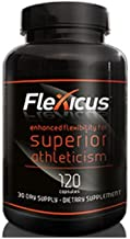 Flexicus with Cetyl Myristoleate (CM8) Maximum Strength Joint Supplement for Athletes: 1 Bottle, 120 Capsules