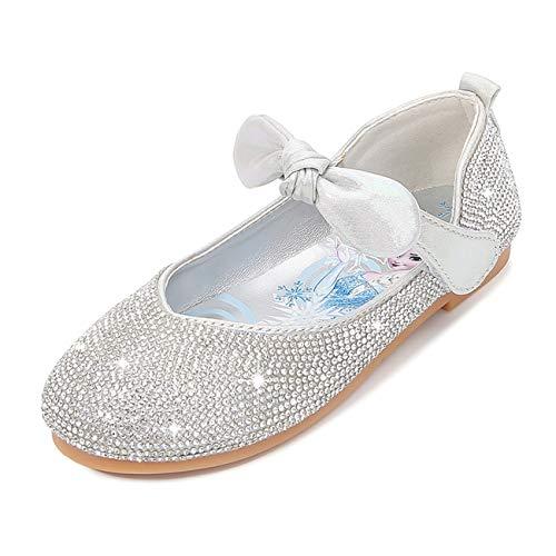 STRDK Niña Princesa Zapatos Sandalias Elsa Reina de Nieve Disfraz Zapatos de...