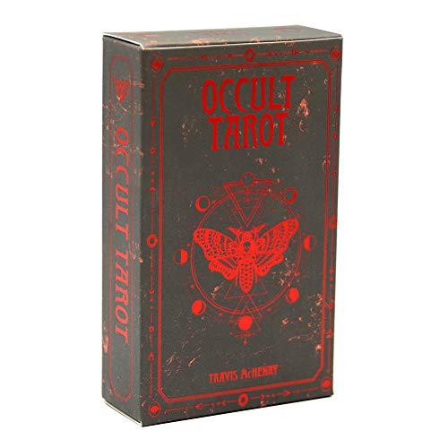 78 Piezas de baraja de Tarot Oculta, versión en inglés, Oracle, adivinación, Juego de Destino, Mesa de Cubierta, Fiesta Familiar, Juegos de Mesa, Naipes