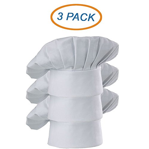 350 Chef Apparel Premium Twill Chef Hat Breathable Machine Washable One-Size-Fits-All 65 %Polyester 35%Cotton