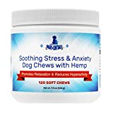 Paws-sentials Soothing Stress & Anxiety Dog Chews Made in USA with Hemp Seed Oil for Dogs - 120 Count