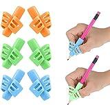 Dsaren 6 Pièces Guide Doigt Silicone Aide Ecriture Pencil Grip Crayon Ergonomique Droitier pour Enfants Adultes Besoins Spéciaux