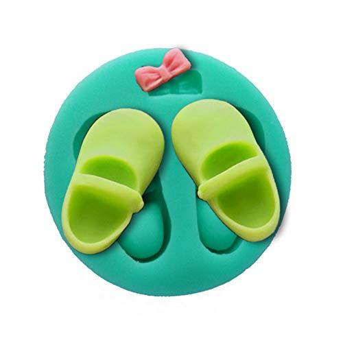 WYNYX 3D Mädchen Baby SchuheKuchen Backen Kochwerkzeuge Schokoladenkuchen Silikonform Bowknot Dekorieren Hochzeitszubehör