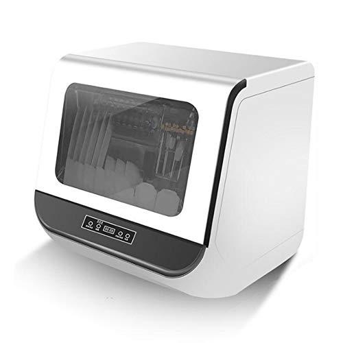 YIDPU Tischgeschirrspüler,berühren Sie die Taste 360 ° Doppelspray 72 ° Hochtemperatursterilisation Doppeleffekt trocknungssystem,geeignet Für Die Küche 1200w Jeweils 3 Liter Wasser