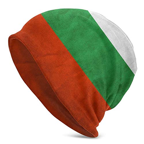 Mens Womens Knit Beanies Hüte Retro Stripe Bulgarien Flagge Adult Warm Winter Caps
