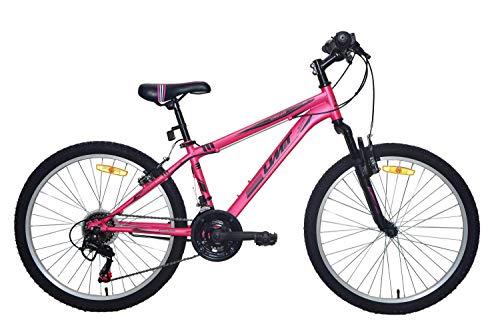 Umit 24 Pulgadas Rosa, Bicicleta XR-240 Partir de 9 años, con Cambio Shimano y Suspension Delantera, Unisex niños