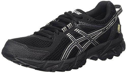 ASICS - Gel-Sonoma 2 G-TX, Zapatillas de Running Mujer, Negro (Black/Onyx/Silver 9099), 37.5 EU