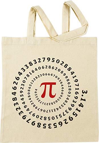 Vendax Pi, Spiral, Science, Mathematics, Math, Irrational Number, Sequence Beige Einkaufstasche
