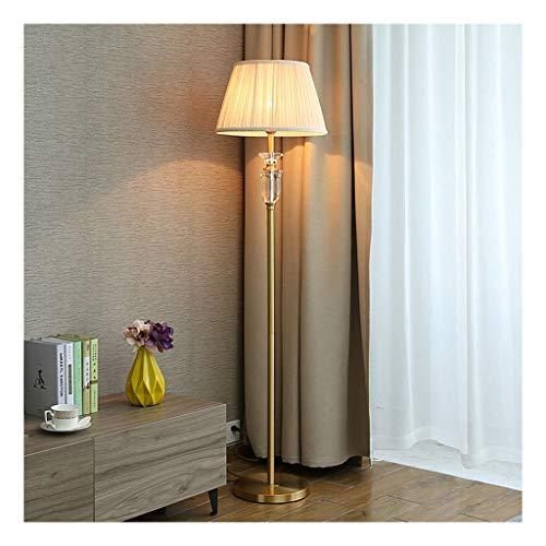 WYZ. Staande lamp Crystal Hotel hoofddecoratie woonkamer slaapkamer nacht LED leeslamp complete koperen staande lamp